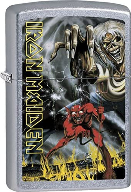 Iron Maiden Zippo Lighter - Chrome