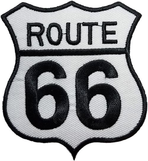 "Route 66 Embroidered Sew On Patch - 2 3/4"" X 3"" Image"