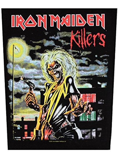 """Iron Maiden Killers - Woven Back Patch 11.25"""" x 14"""" Image"""