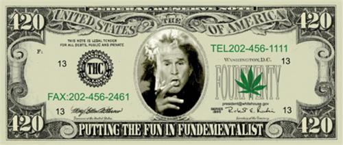 """George Bush Bill - Sticker - 5 1/4"""" x 2 1/4"""""""