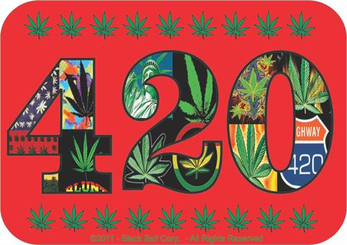 """420 - Sticker - 2 3/4"""" x 3 1/2"""""""