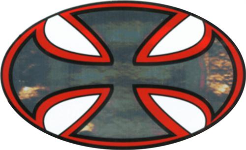"""Iron Cross - 3"""" X 5"""" - Sticker"""