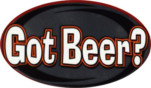 """Got Beer? - 3"""" X 5"""" - Sticker"""