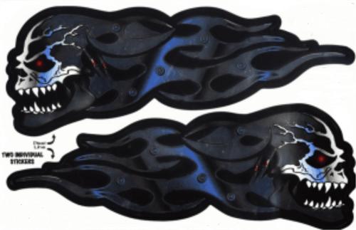 """Skull Flames - 3"""" X 5"""" - Sticker"""