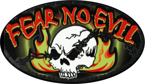 "Fear No Evil - 3"" X 5"" - Sticker"