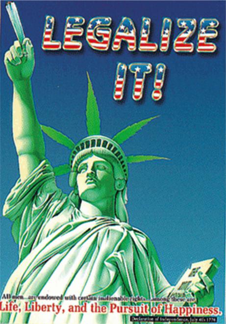 "Legalize It! - Sticker - 3 1/2"" x 2 3/4"""