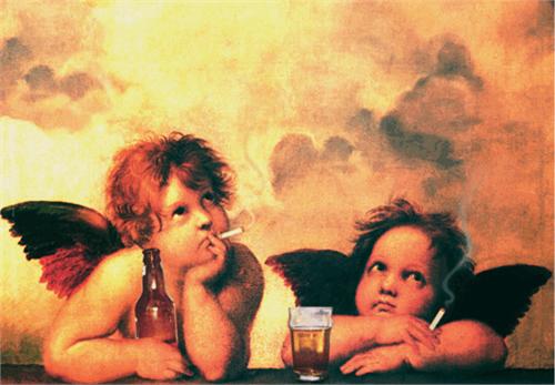 "Fallen Angels - Sticker - 4 1/2"" x 3 1/8"""