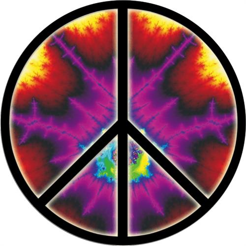 "Peace Explosion - Sticker - 2 5/8"" Round"