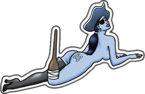 "Pirate Babe - Sticker - 3 1/2"" x 2 1/2"""