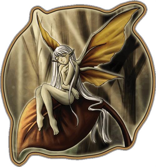 "Dreaming Fairy - Sticker - 4"" x 3 1/4"""