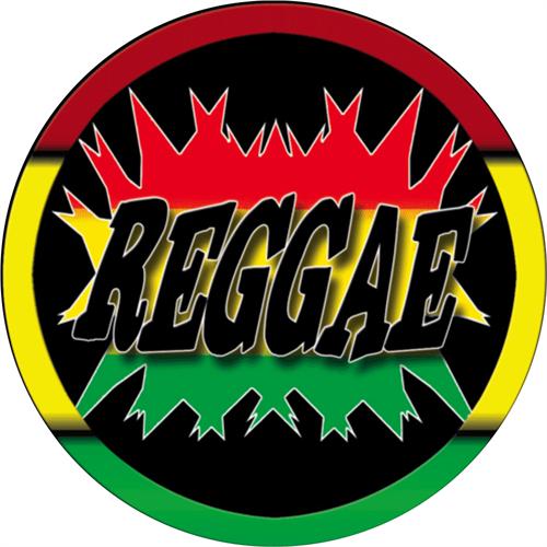 """Reggae - Sticker - 2 5/8"""" Round"""