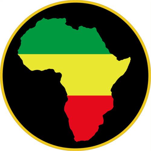 """Rasta Africa - Sticker - 3 3/8"""" Round"""