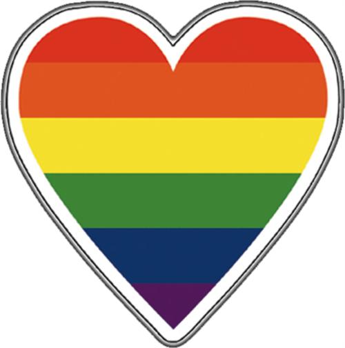 "Big Heart Gay Pride - Sticker - 4"" x 3 1/2"""