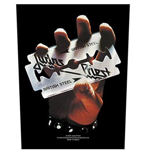 "Judas Priest British Steel - Woven Back Patch 11.25"" x 14"" Image"