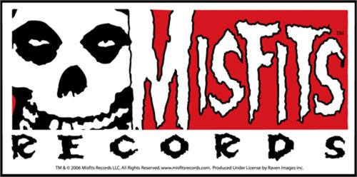 """Misfits Record - Sticker - 5 1/2"""" x 2 3/4"""""""