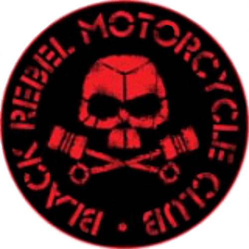 """BRMC Red Skull - Sticker - 3 5/8"""" Round"""