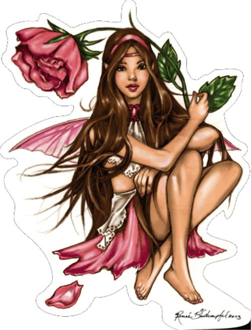 """Primrose Fairy - Renee Biertempfel - Sticker - 4 1/2"""" x 3 1/2"""""""