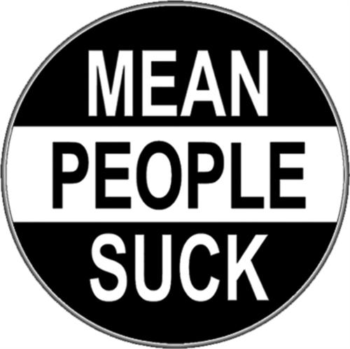"""Mean People Suck - Sticker - 2 5/8"""" Round"""