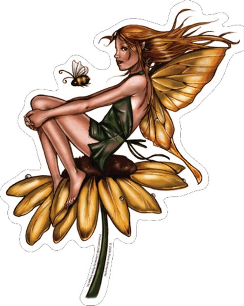 """Blackeyed Suzi Fairy - Renee Biertempfel - Sticker - 4 1/2"""" x 3"""""""