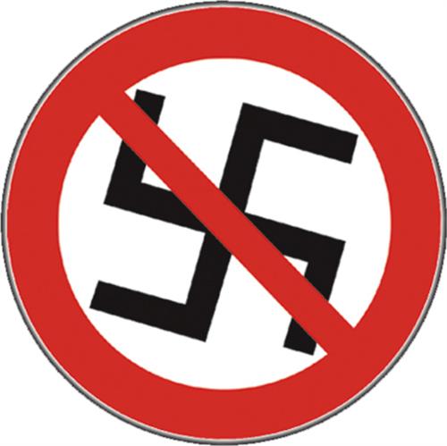 "No Nazis - Anti-Nazi Sticker - 3 1/8"" Round"