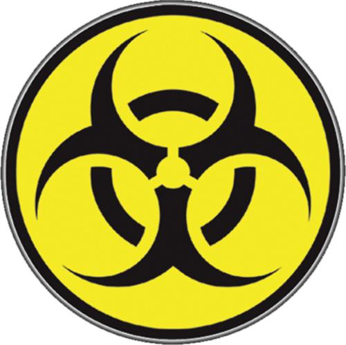 """Biohazard - Sticker - 2 11/16"""" Round"""