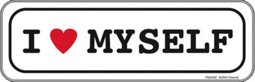 """I Love Myself - Sticker - 4 1/2"""" x 1 1/2"""""""