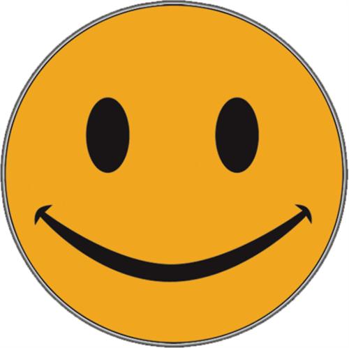 "Yellow Smile - Sticker - 2 5/8"" Round"