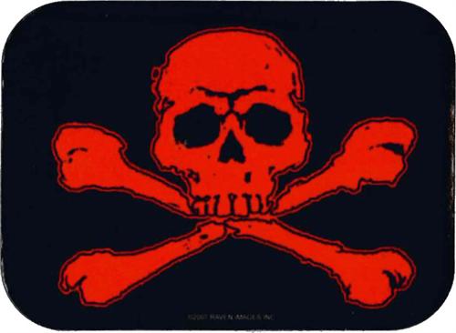 """Skull & Crossbones - Mini Sticker - 2"""" X 2 3/4"""""""