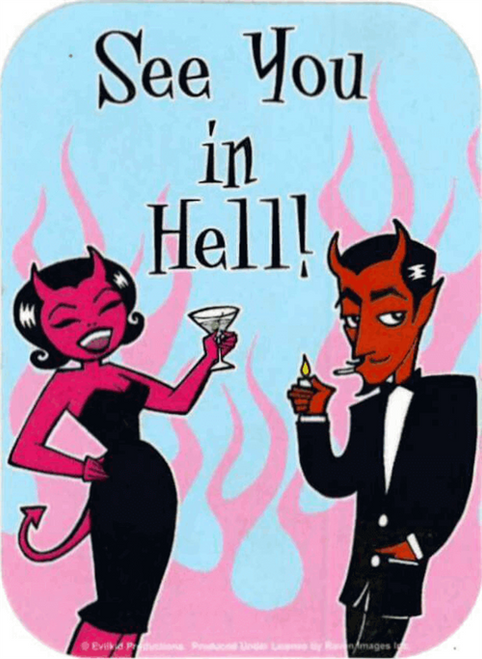"""See You In Hell - Mini Sticker - 2"""" X 2 3/4"""""""