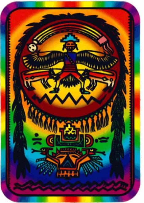 "Indian Psychadelic Sticker - 2 1/2"" X 3 3/4"""