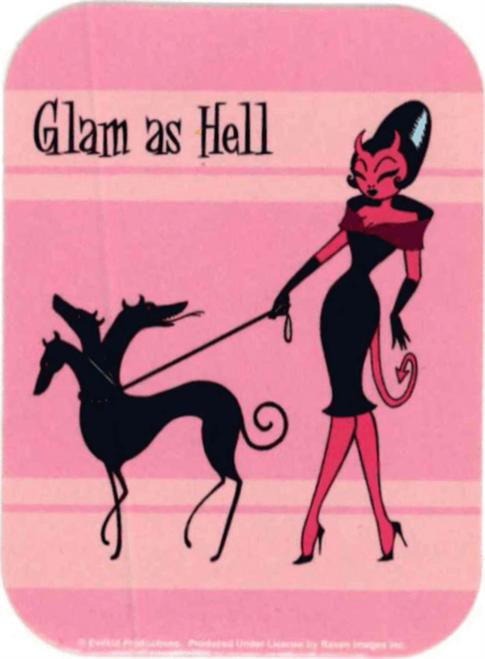 "Glam as Hell - Mini Sticker - 2"" X 2 3/4"""