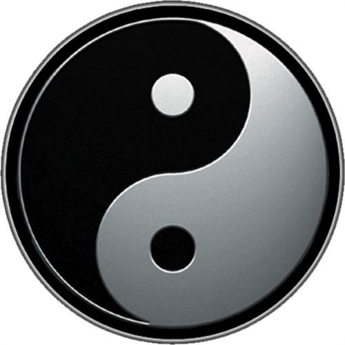 """Yin & Yang - Sticker - 2 11/16"""" Round"""