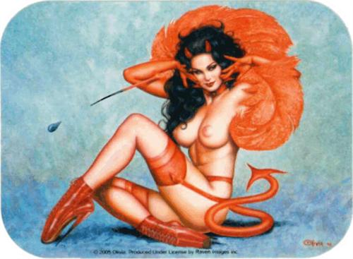 "Devil Girl - Mini Sticker - 2"" X 2 3/4"""
