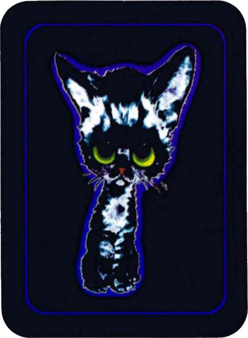 """Big Eyed Kitty - Mini Sticker - 2"""" X 2 3/4"""""""