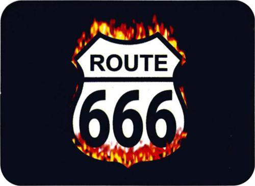 """Route 666 - Mini Sticker - 2"""" X 2 3/4"""""""