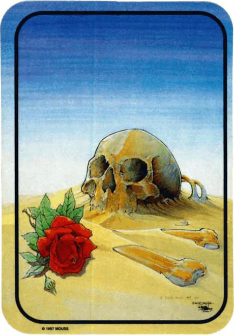 "Skull In The Sand Sticker - 2 1/2"" X 3 3/4"""