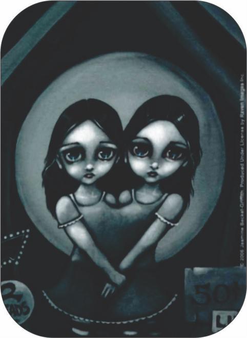 """Big Eyed Twins - Mini Sticker - 2"""" X 2 3/4"""""""
