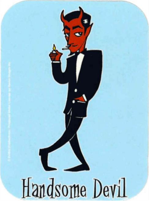 "Handsome Devil - Mini Sticker - 2"" X 2 3/4"""
