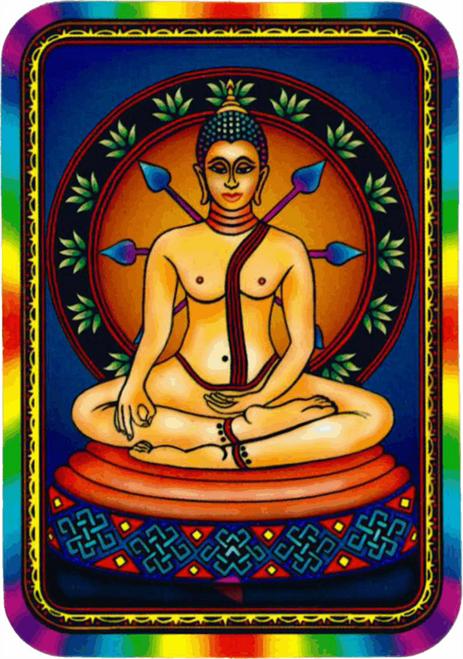 """Psychadelic Meditation - Sticker - 2 1/2"""" X 3 3/4"""""""