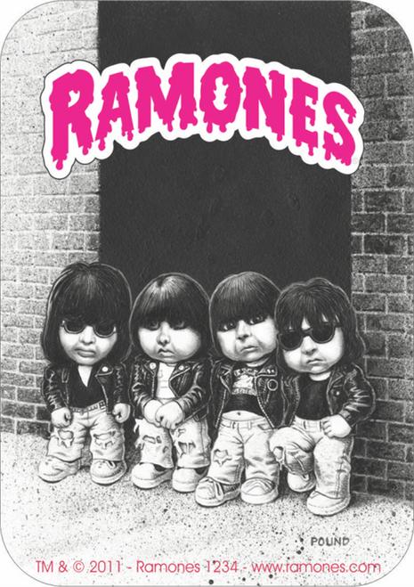 "The Ramones Garbage Pail Kids - Sticker - 3 1/2"" x 2 3/4"""