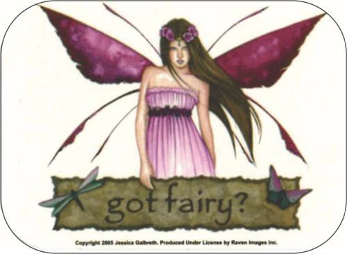 "Got Fairy - Jessica Galbreth - Mini Sticker - 2"" X 2 3/4"""