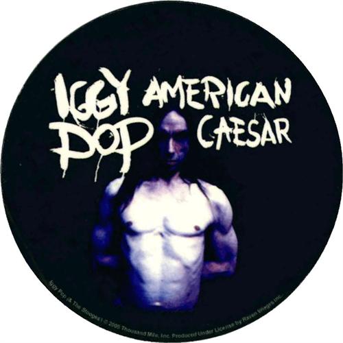 """Iggy Pop American Caesar Round Sticker - 2 1/2"""" Round"""