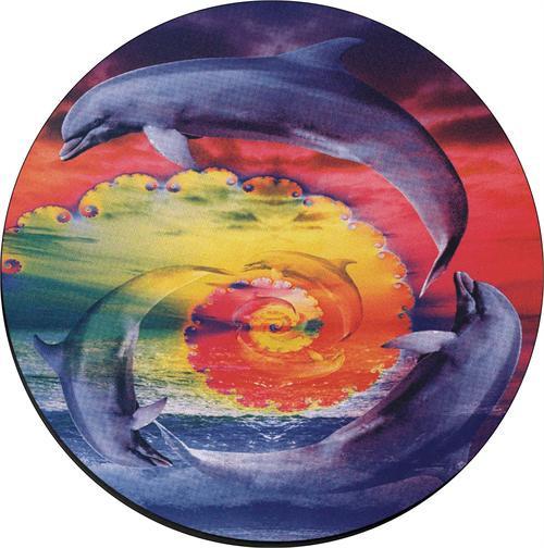 """Fractal Dolphins - Round Sticker - 2 1/2"""" Round"""