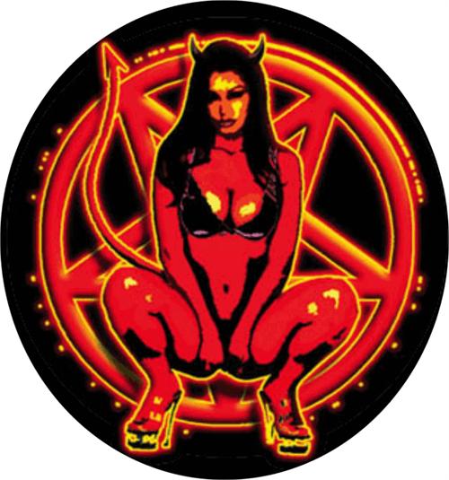 """Devil Pentagram  - Round Sticker - 2 1/2"""" Round"""