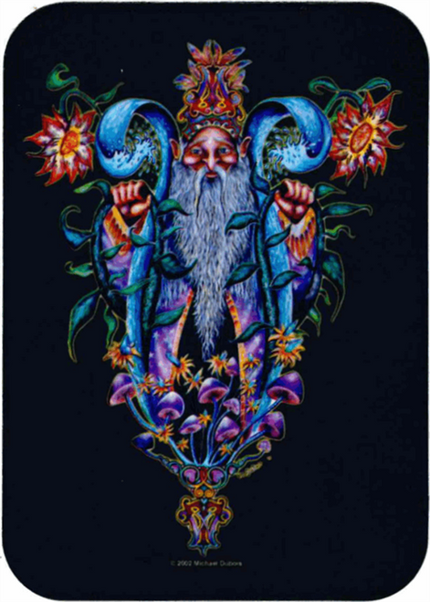 """Wizard - Mike Dubois Sticker - 2 1/2"""" X 3 3/4"""""""