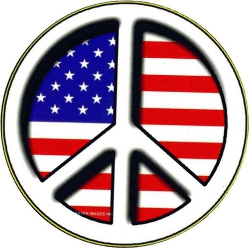 """Peace Flag - Round Sticker - 2 1/2"""" Round"""