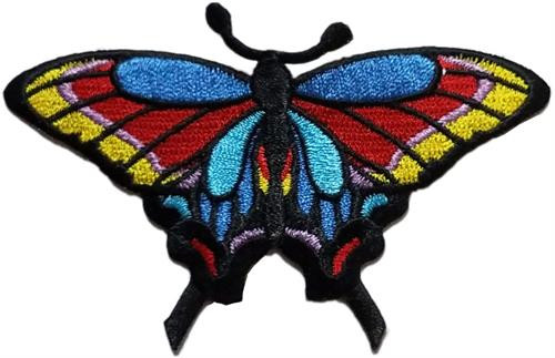 """Butterfly Embroidered Sew On Patch - 3 1/2"""" X 2"""" Image"""