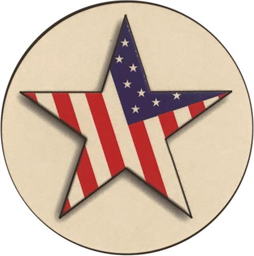 """Star Flag - Round Sticker - 2 1/2"""" Round"""