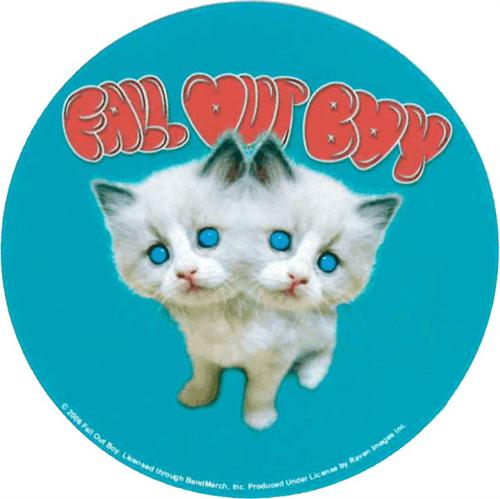 "Fall Out Boy Kittens Round Sticker - 2 1/2"" Round"