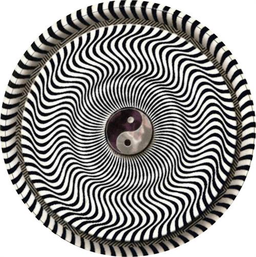"Yin Yang Op Art Round Sticker - 2 1/2"" Round"